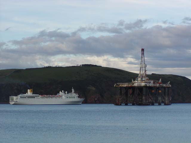 Cruise boat passing Cromarty