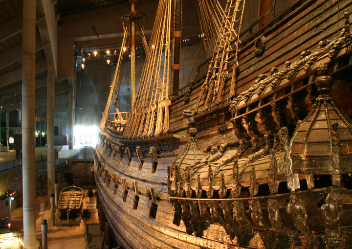 Vasa - the gallery at the stern