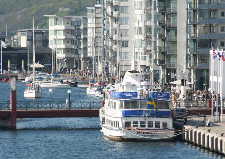 Harmony af Helsingborg moored Helsingborg harbour