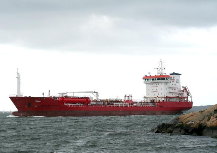 Prima entering Gothenburg