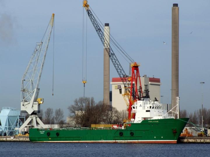 Supply vessel Havila Fame at IJmuiden