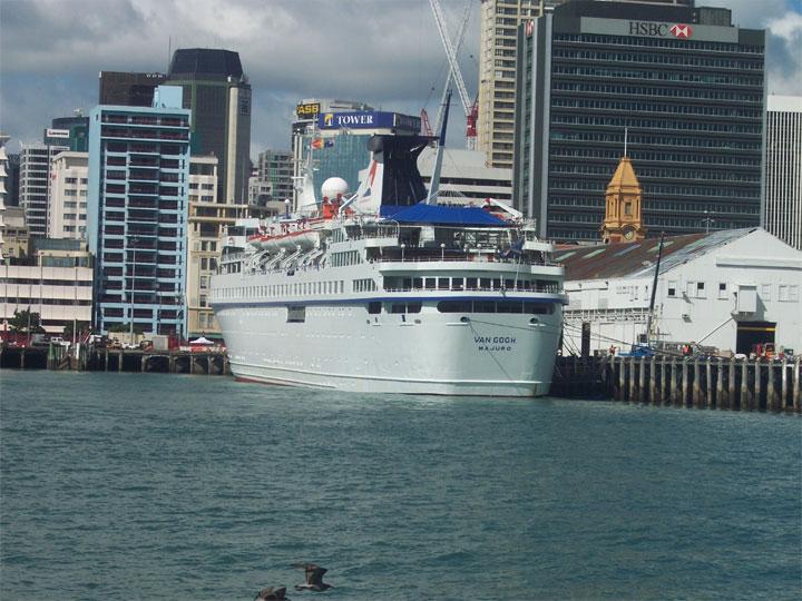 Passenger ship Van Gogh in Auckland, New Zealand