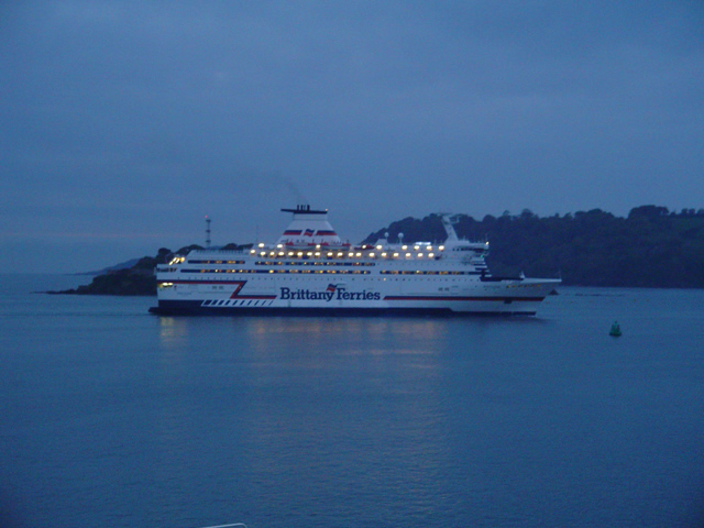 Brittany Ferries at Dusk in Plymouth Sound