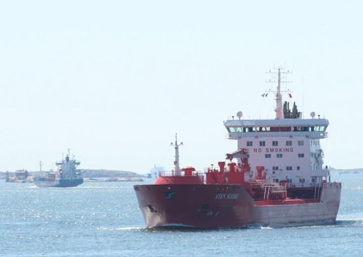 Sten Suomi approaching Gothenburg