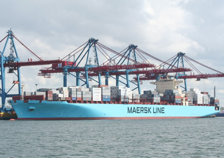 Container ship Maersk Stockholm at Skandiahamnen
