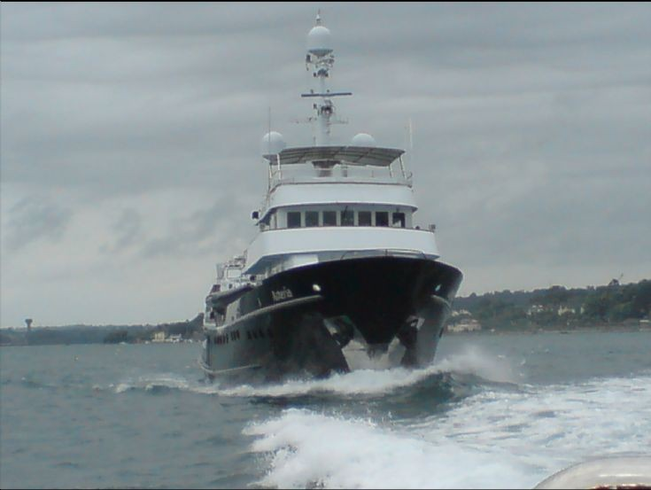 Commercial Yacht Asteria leaving Cork harbour