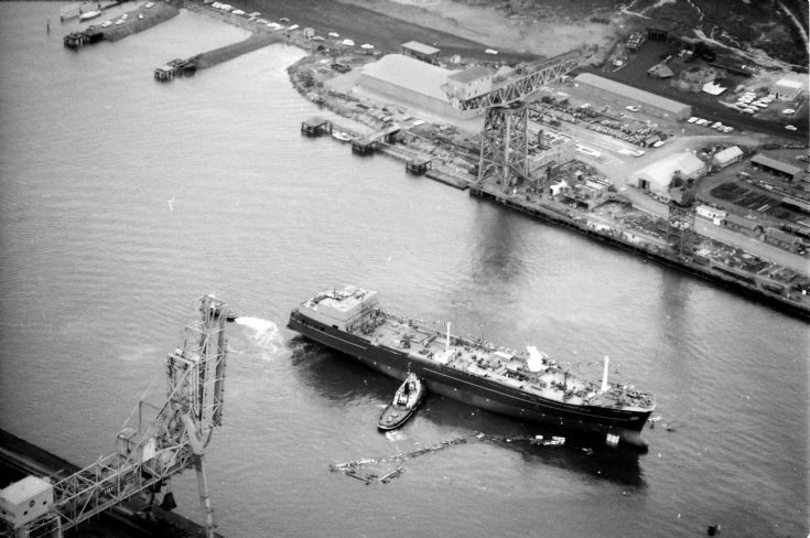 Aerial photo of Seaway Prince launching