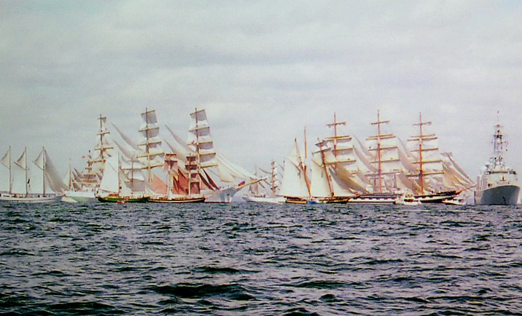 Starting Gun - Tall Ships 2000  off Halifax,NS