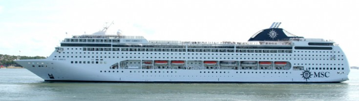MSC Lirica Side View