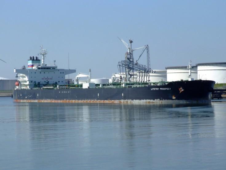 Liberia flagged tanker Liteyny Prospect