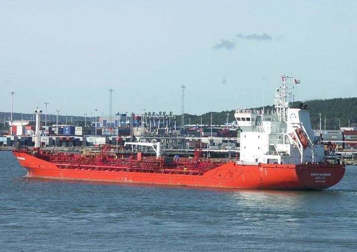 Eships Bainunah leaving Gothenburg