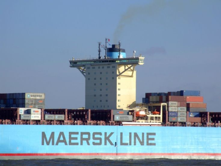 Close-up of Eleonora Maersk