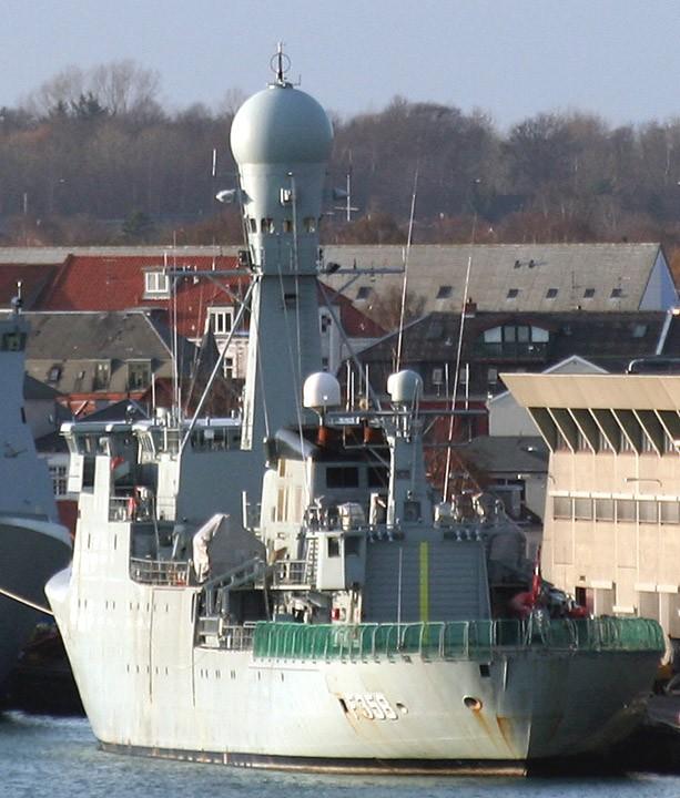 HDMS Triton, F358 moored at Frederikshavn