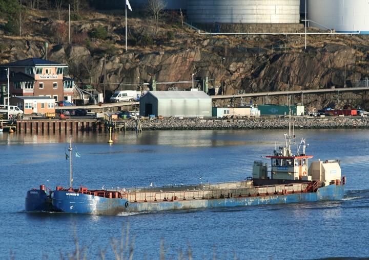 Munin R departing from Gothenburg