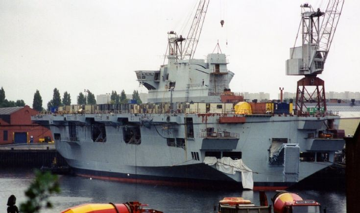 HMS OCEAN fitting out