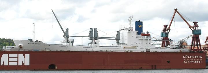 Baltic Start in CityVarvet dry dock