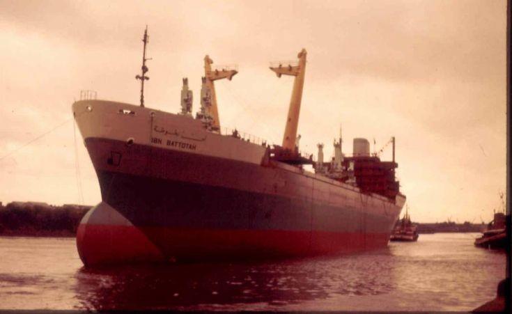 cargo vessel IBN BATTOTAH launch