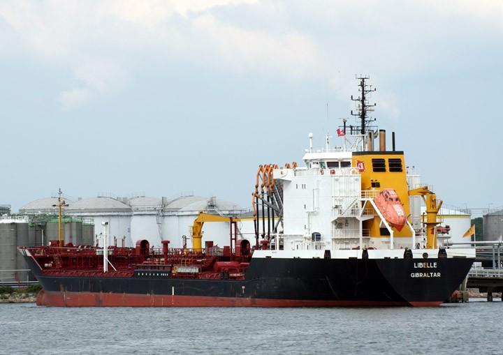 Tanker Libelle moored at Skarvikshamn