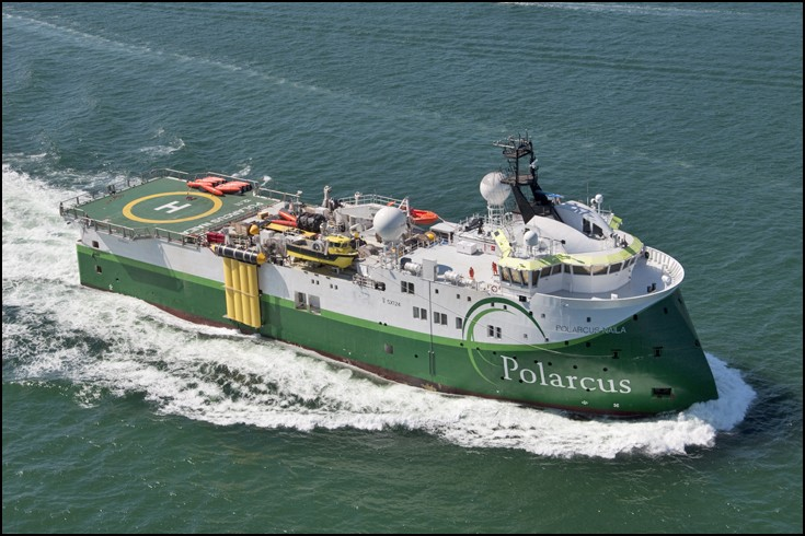 POLARCUS NAILA - Seismic research ship