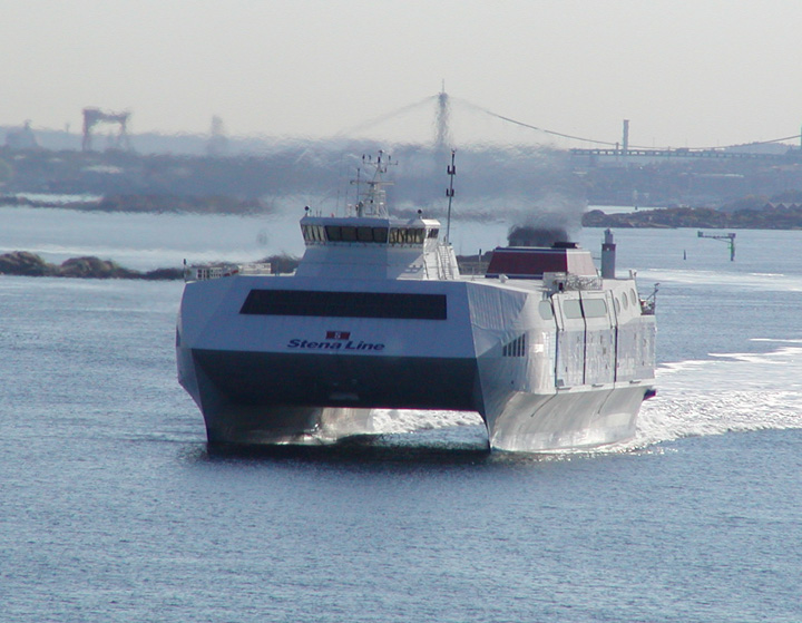 Stena Carisma leaving Gothenburg
