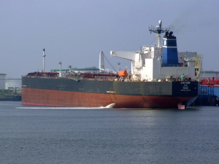 India flagged tanker at Rotterdam