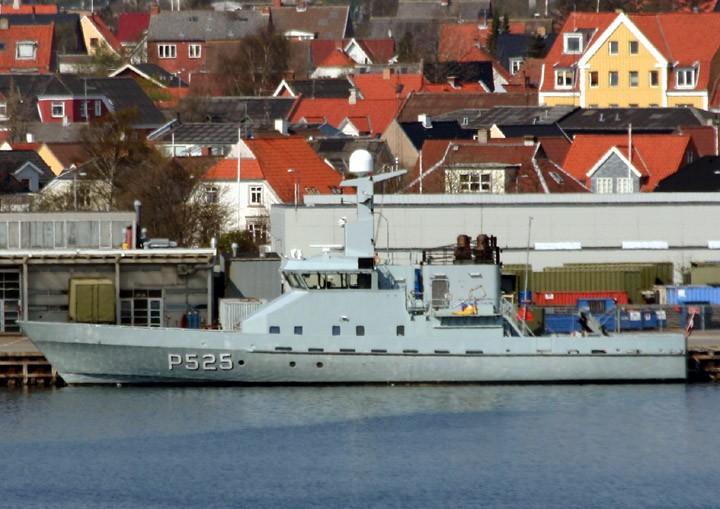HDMS Rota P525 at Frederikshavn