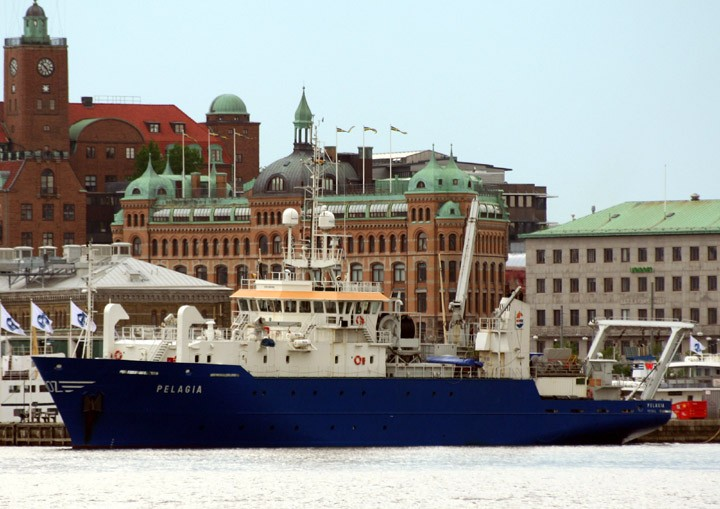 Pelagia moored at Stenpiren, Gothenburg