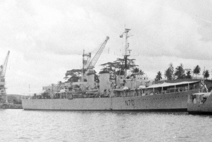 HMS Manxman at Singapore 1964