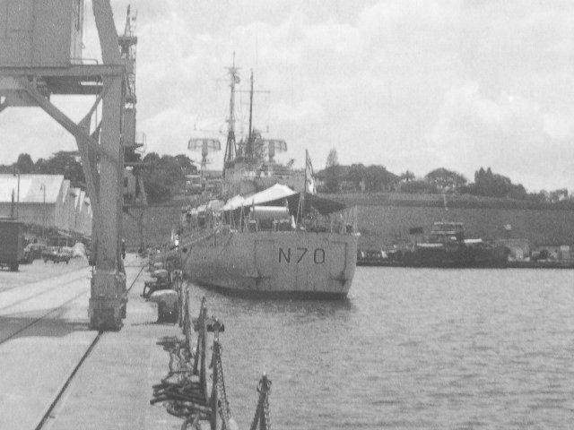 Minelayer HMS Manxman at Singapore 1964