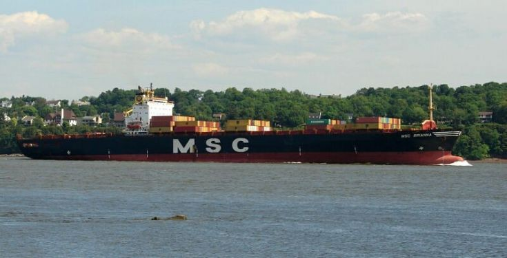 MSC Brianna on St-Lawrence River