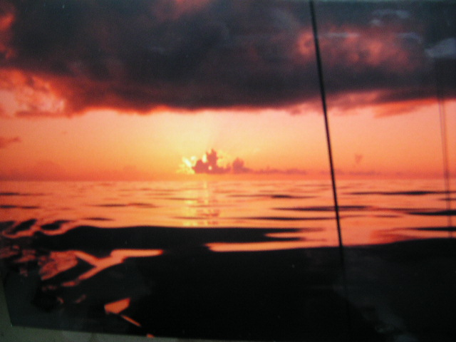 Sunset Mid-Atlantic between Bermuda and Azores