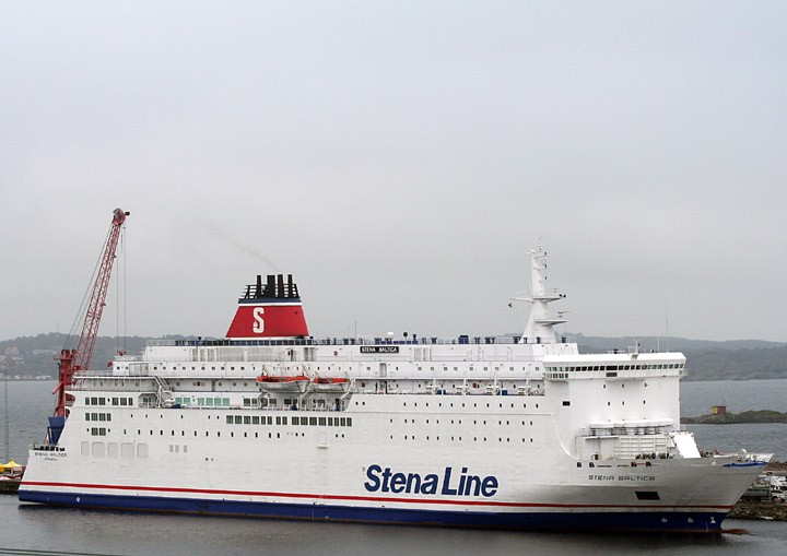 Stena Baltica laid up at Lysekil, Sweden
