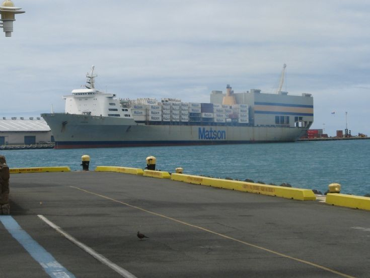Ships and harbours photos matson line container ship honolulu - Matson container homes ...