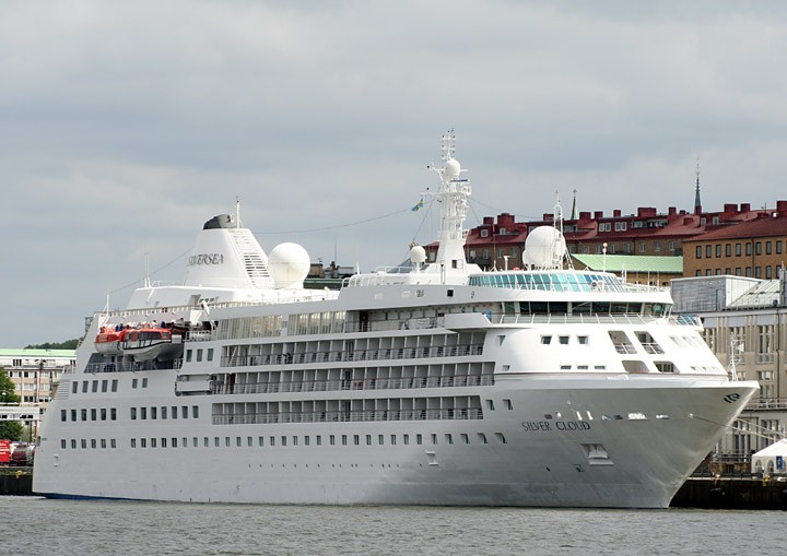 Silver Cloud moored in Gothenburg