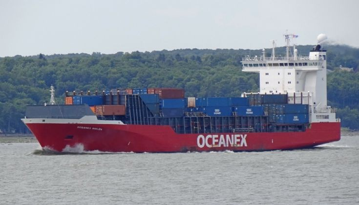 Oceanex Avalon on the St-Lawrence River