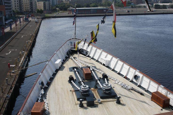 ROYAL YACHT BRITANNIA - view from Bridge
