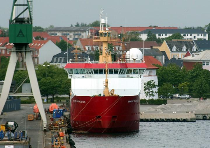 Ernest Shackleton at Fredrikshavn, Denmark
