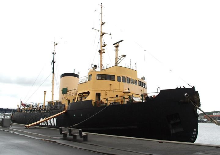Elbjørn moored in Aalborg.