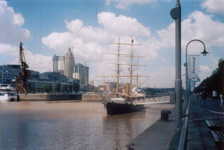 ARA Uruguay moored in Buenos Aires