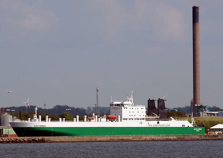 Antares moored at Helsingborg, Sweden