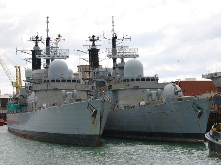 HMS Southampton & HMS Nottingham