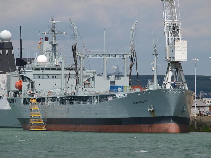 RFA Orangeleaf at Portsmouth