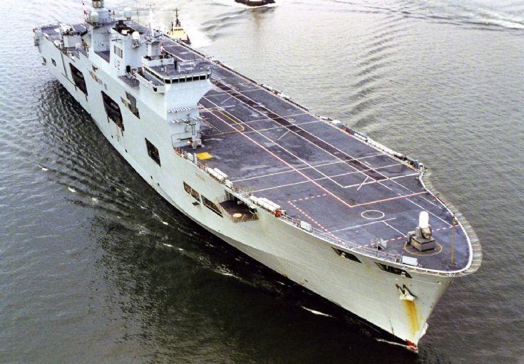 HMS OCEAN at Rosyth