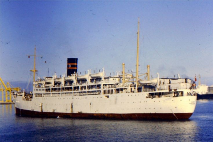 Indian passenger-cargo ship 'Nancowry'