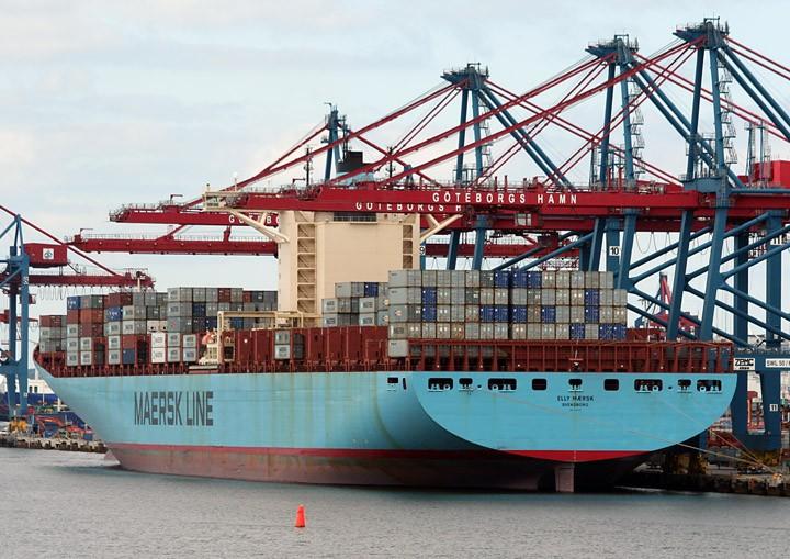 Elly Maersk at Skandiahamn