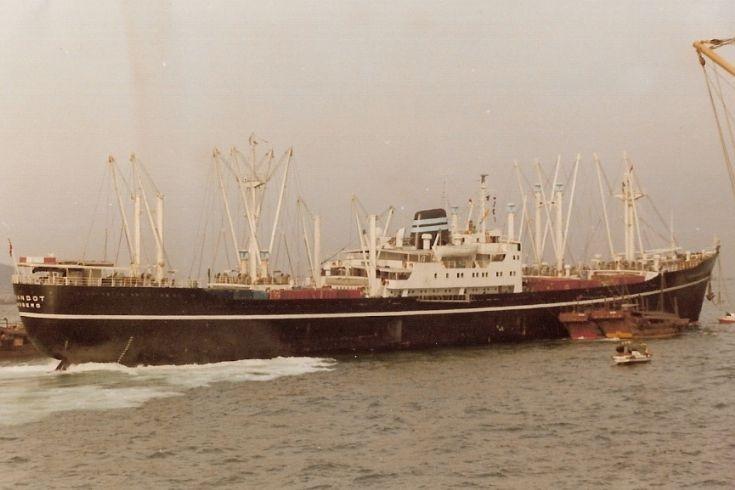 Norwegian cargo ship 'Turandot' of 1957