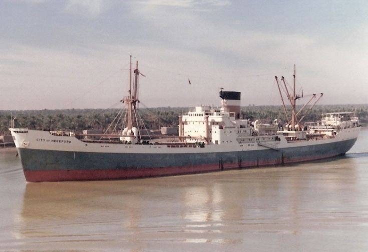 British cargo ship 'City of Hereford' of 1958