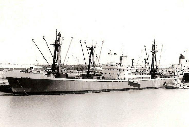 Belgian cargo ship 'Moanda' of 1957