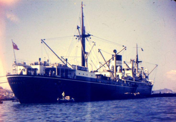 British cargo ship 'Chindwara' of 1950