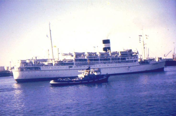 British cargo-passenger ship 'Karanja' of 1948